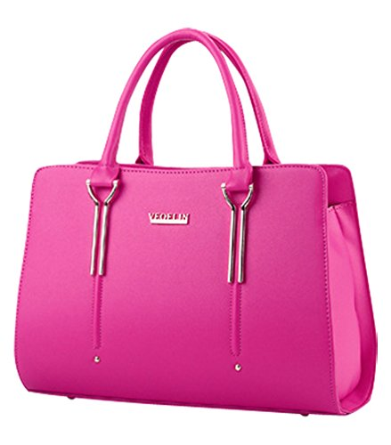 MissFox Borsa Shopping Bag Elegante Donna Vari Colori Rose