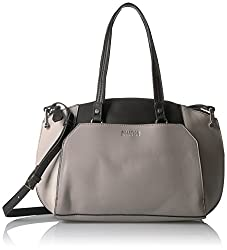 Kenneth Cole Reaction Handbag Sutton Satchel, Stonybrook/Black London Grey