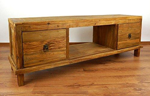 Java Sideboard aus recyceltem Teakholz | TV-Bank aus Massivholz | Teakholz Phonoschrank | Asia HiFi-Möbel (Handarbeit)