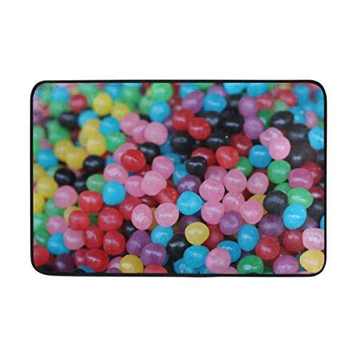 dfegyfr Fußmatten Candy Chewy Lots Bunte Fußmatte Indoor Outdoor EingangFloor Mat Badezimmer 23,6 X 15,7 Zoll -