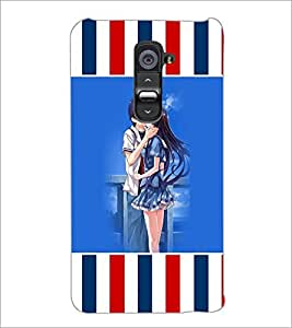 PrintDhaba Couple D-5728 Back Case Cover for LG G2 (Multi-Coloured)