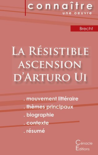 Fiche de lecture La Résistible ascension d'Arturo Ui de Bertold Brecht (Analyse littéraire de référence et résumé complet) par