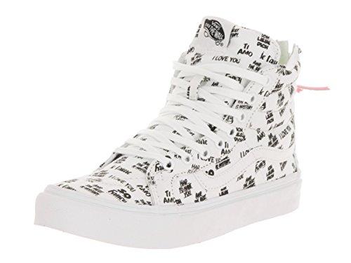 Vans Ua Sk8-Hi, Chaussures en Forme de Bottines Femme, Gris, Taille Blanc