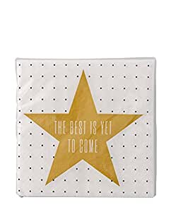 Paper Napkins, 'The Best..', WH/Gold