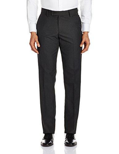 Auburn Hill Men's Formal Trousers (8907242472072_265188707_32W x 34L_Charcoal)