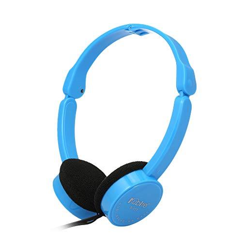 Festnight KUBITE T-111 3,5-mm-verdrahtete Over-Ear-Kopfhörer Faltbarer Sport-Headset Tragbare Musik-Gaming-Kopfhörer mit Mikrofon für Kinder MP4 MP3-Smartphones Laptop Tablet PC (Für Kinder Gaming-tablets)