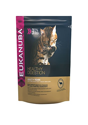 Eukanuba, Linea Healthy Digestion, Alimento Completo per Gatti Adulti , Ricco di Agnello, 4 Kg