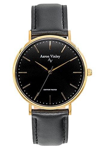 Aaron Vinley Uhr | Stockholm Serie - Schwarz | Kratzfestes Saphirglas |...