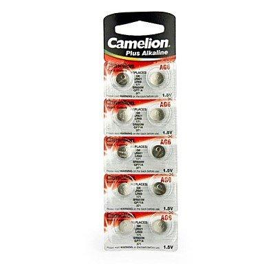 Camelion pile (alcaline aG6 button battery 10pièces)