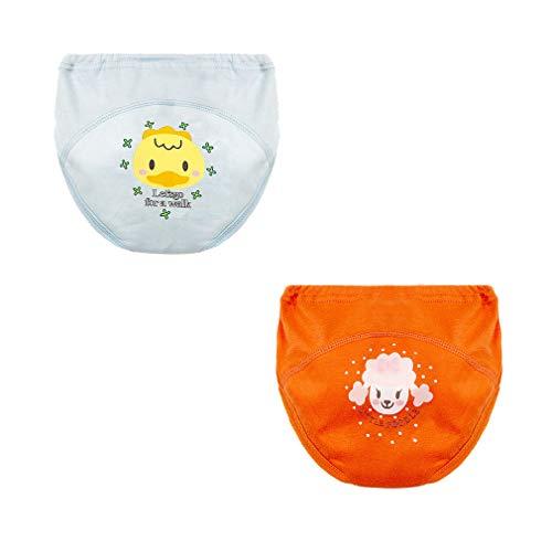 mama stadt 2er Pack Baby Kleinkind Karikatur Atmungsaktiv Wasserdicht Töpfchentraining Waschbare Lernwindel Unterwäsche Trainerhosen/2-3Y (Kleinkind-unterwäsche-raum)