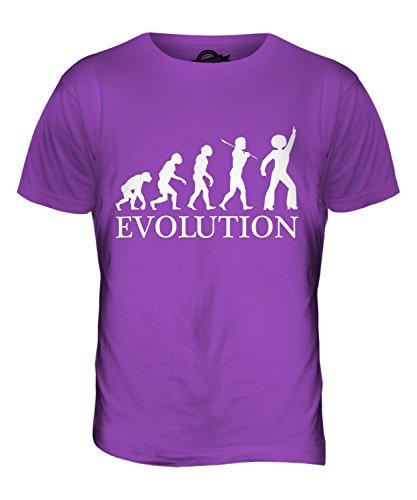 CandyMix Discoteca Evoluzione Umana T-Shirt da Uomo Maglietta Viola