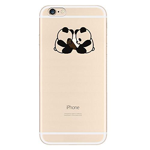 IPHONE 6plus Hülle Flamingos Katze Giraffe Weich Silikon TPU Schutzhülle Ultradünnen Case für iPhone 6 /6S plus Schutz Hülle panda6