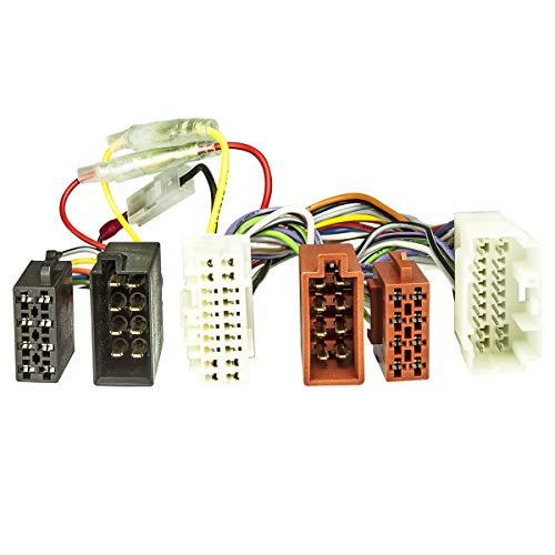 tomzz Audio 7317–000ISO DI DERIVAZIONE cavo adattatore (T) per Honda, Suzuki, OPEL AGILA ab 08, Nissan Pixo AB 09, Fiat Sedici AB 06, per vivavoce con connettore ISO (ad esempio Parrot THB, Funkwerk Dabendorf)
