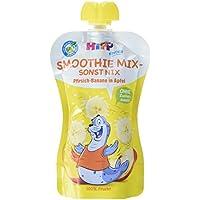 Hipp Kinder Früchte im Quetschbeutel - Smoothie Mix - sonst nix, Pfirsich-Banane in Apfel, 6er Pack (6 x 120 ml)