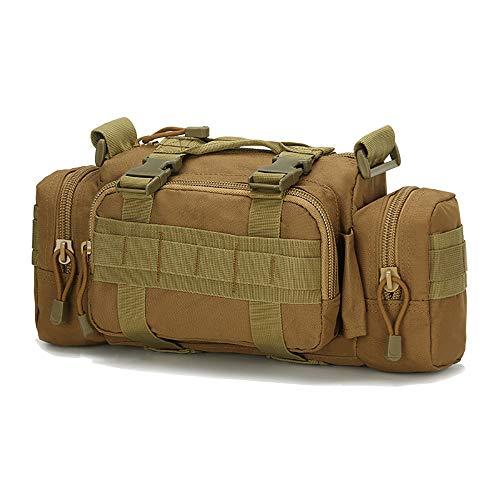 Fjiujin,Militärische Fan Taktische Taschen Outdoor Bergsteigen Tasche Reiten Tasche Angeln Schulter Schulter Umhängetasche Kit Kameratasche(color:Schlamm,size:Wie gezeigt) -