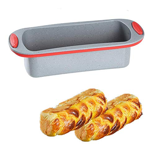 QELEG Silikonform für Gugelhupf, Backen, Backen, Mini-Kuchenform Loaf Bread Mold Gourmet-loaf Pan