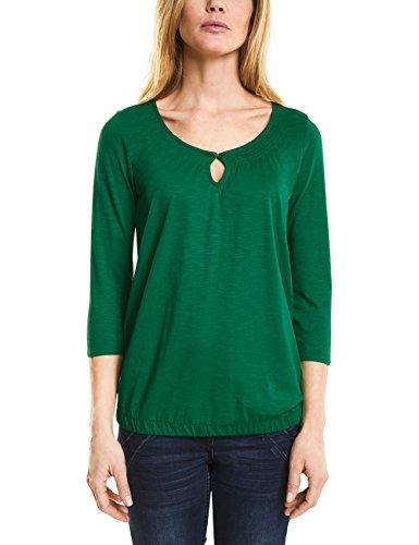 Clover Green T-shirt (Cecil Damen 311861 Adriana Langarmshirt, Grün (Clover Green 11279), Small)