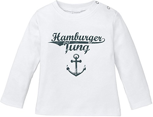EZYshirt Hamburger Jung & Deern Vol. 2 Baby T-Shirt Longsleeve Bio Baumwolle