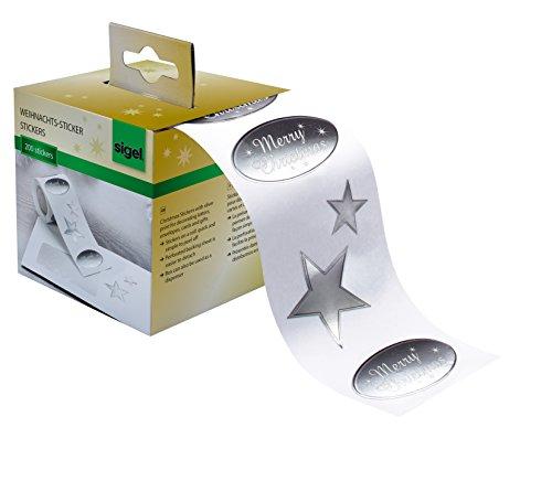 Sigel CS113 Rollo 200 stickers navideños adhesivos