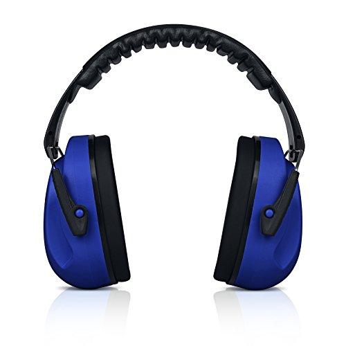 4-punkt-kopfband (heartek Kinder Ohrenschützer Gehörschutz mit Reise Bag Junior Gehörschutz für Kinder, gepolsterte Ohr Schutz, kleine Erwachsene, Frauen–verstellbare Displayschutzfolie Noise Reduction Ohrenschützer, Sammy, dunkelblau)