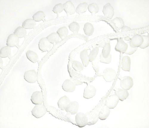 Weiß Pom Pom Trim Trimmen Nähen Craft Pro Meter 10mm Bobble Fransen Pompon Qualität Großbritannien von Zubehör Dachboden -