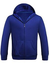 SHOBDW Hombres deporte zip Fleece caliente con capucha de bolsillo de manga larga chaqueta casual abrigo nnQSqnS0Cq