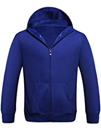 SHOBDW Hombres deporte zip Fleece caliente con capucha de bolsillo de manga larga chaqueta casual abrigo