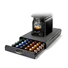 HiveNets Nespresso Porte Capsule de Café Pod Support de Tiroir de Rangement en Métal pour 60 Pcs