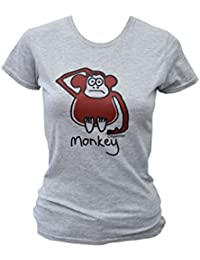 Womens monkey grey T.shirt