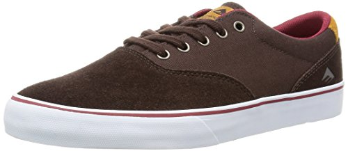 Emerica Provost Slim Vulc, Herren Skateboardschuhe brown/white
