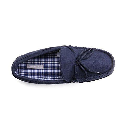 Mocassini Da Uomo Pantofole Piatte Casual Scarpe Da Ginnastica Classiche Comode Scarpe Da Guida Da Uomo William & Kate Blu Navy