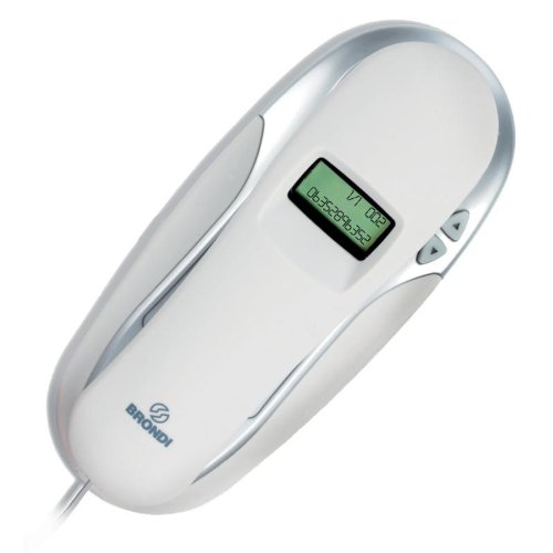 Brondi Kenoby CID - Teléfono fijo digital (inalámbrico), blanco
