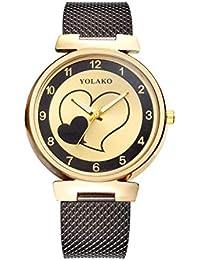 a6c022147acb Gskj Mujer Reloj De Cuarzo Aleación De Imitación Cinturón De Malla Sra Reloj  De Moda Reloj
