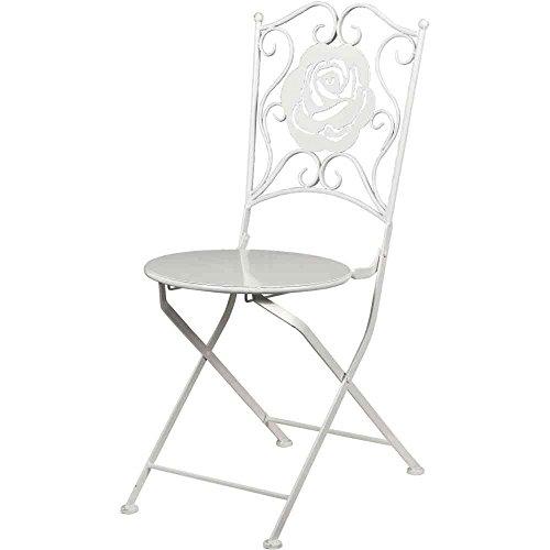 H.G. Chaise Métal Blanc Design Rose 53 x 40 x 90 cm