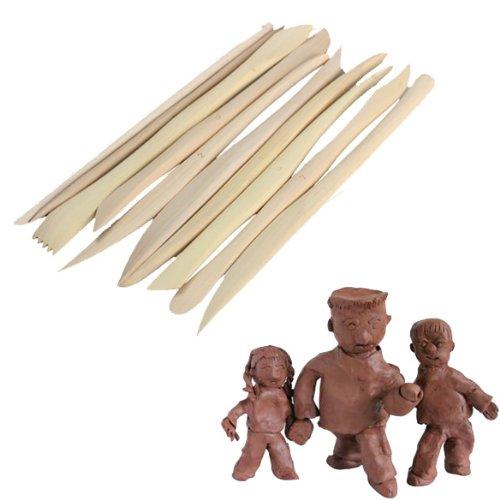 Tenflyer 10 Stück Holz Ton Skulptur Messer Schärfen Pottery Modeling Tools Set - Ck Ton