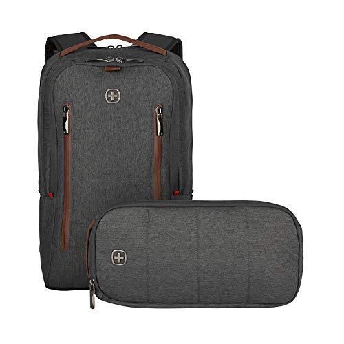 Wenger CityUpgrade Laptoprucksack - mit Umhängetasche 16\'\' Laptopfach 12\'\' Tabletfach wasserfeste Außentasche - Grau