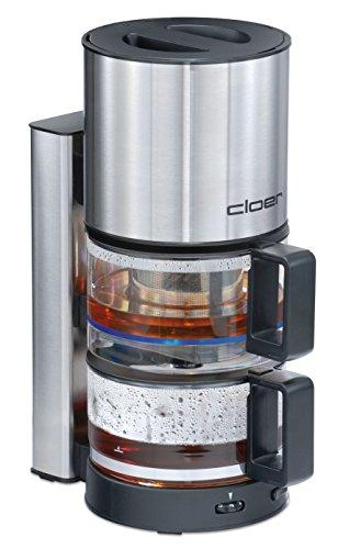Cloer 5548 Teeautomat T42 mit schonender Warmhaltefunktion / 800 W / 8 Tassen / Edelstahl