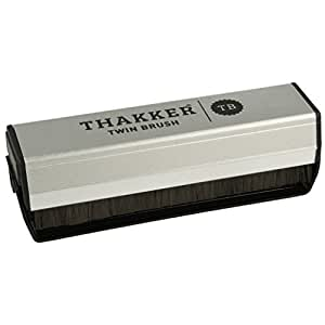 Thakker Twin Brush Brosse velours carbone pour disques vinyles-HiFi / DJ