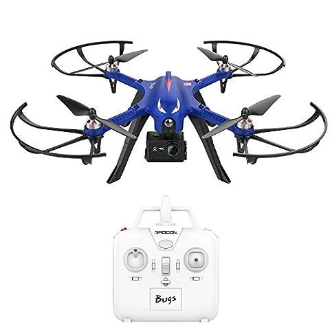 DROCON Brushless High Speed MJX Quadcopter Drohne starker bürstenloser Motors, 15 Minuten Flugzeit für GoPro HD Kamera, 300m Reichweite der Fernbedienung