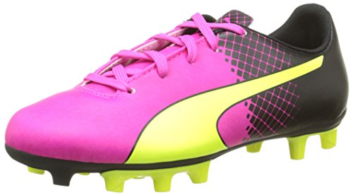 Puma evoSPEED 5.5 Tricks FG Jr, Unisex-Kinder Fußballschuhe, Pink (pink glo-safety yellow-black 01), 28 EU (10 Kinder UK)