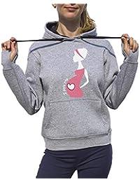 KrisTalas Sudadera con Capucha Mujer Pregnant Woman Design For Pregnant Schwangere Frau Mujeres Embarazadas Femme Enceinte