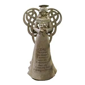 Les prairies Road Dublin Cour-Noeud Celtique-Figurine-Ange Aile avec Irish Blessing