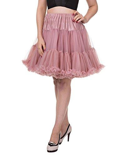 Banned - Jupe - Jupon - Femme Rose - Dusty Pink