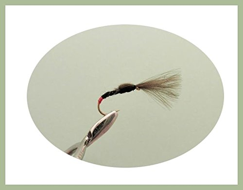 For Fly Fishing Choice of Sizes 6 Pack Trout flies Black Shuttlecocks
