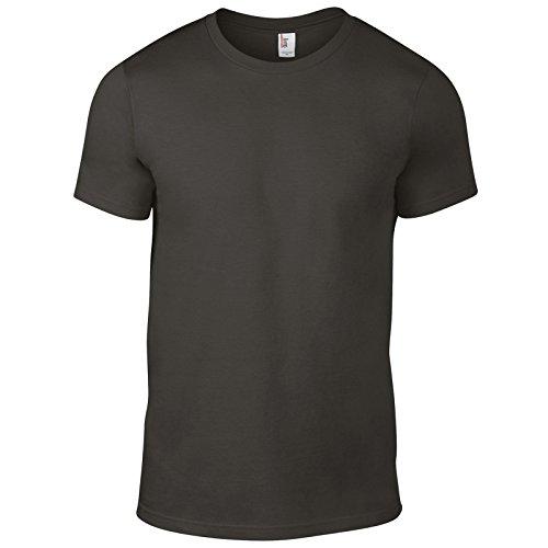 Anvil Herren Modern T-Shirt Gr. S/ 86 cm- 91 cm, smoke (Screen Film Smoke)