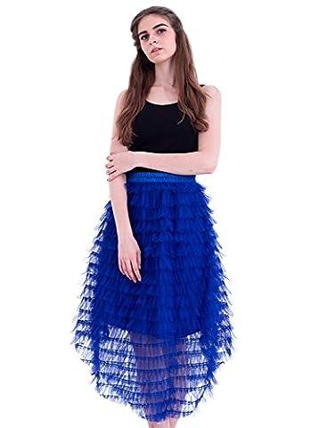 Honeystore Damen's Röcke Tüll A-Linie Vintage Retro Party Hochzeit Faltenwurf Rock Unterrock Petticaot Rockabilly One Size (Einfache Selbst Gemachte Kostüme Für Halloween)