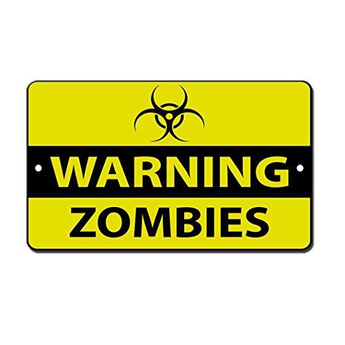 Señal advertencia peligro Zombies OneMtoss texto