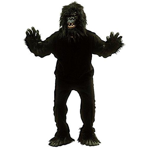 Spassprofi Tierkostüm Gorilla Vollkostüm inkl. Kopf Größe 48-54 Kostüm AFFE Affenkostüm (Gorilla Kopf Kostüm)