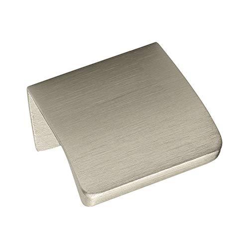 Gedotec Kasten-Griff für Vitrine Möbel-Griff für Kleider-Schrank Schubladen-Griff für Nachttisch - Edge Straight | 40 mm | Alu Edelstahl-Optik | LA 20 mm | 1 Stück
