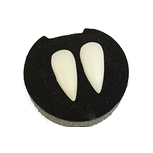 Halloween-Vampirzähne, Dracula-Zahnprothesen, für Zombie Teufel Clown Hexenzahn, Halloween-Party, Props (4 Größen) 17 mm Wie abgebildet